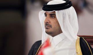 Der Emir des Golfstaats Katar, Hamad bin Chalifa Al Thani. (Foto)