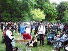 Zwischen den ganzen Fotografen und Schaulustigen sind die eigentlichen WGT-Besucher auf den Viktorianischen Picknick kaum noch zu erkennen. (Foto)