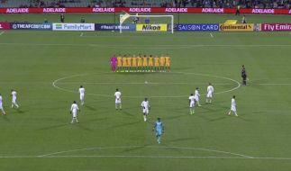 Australien spielte gegen Saudi-Arabien am 8.6.2017 im WM-Qualifikationsspiel in Adelaide (Australien). (Foto)