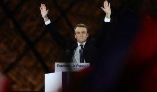 Emmanuel Macron setzt seinen Wahltriumph fort. (Foto)