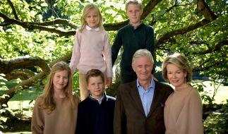 Die belgische Königsfamilie um König Philippe und Königin Mathilde - hier mit den Kindern Elisabeth, Gabriel, Emmanuel und Eléonore - kann ihre Vorfahren auf die Coburger Dynastie zurückführen. (Foto)