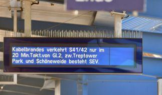 Bundesweite Brandanschläge auf Bahnanlagen haben den Zugverkehr massiv beeinträchtigt. (Foto)