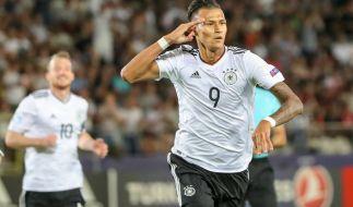 Stürmer Davie Selke macht den zweiten Sieg der U21 in Polen perfekt. (Foto)