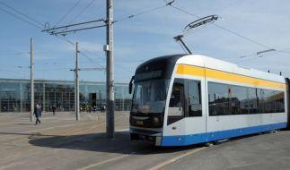In Leipzig wurde ein Kind von einer Straßenbahn erfasst. (Foto)
