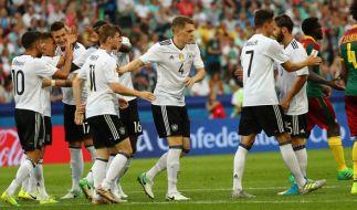 Die deutsche Mannschaft trifft im Halbfinale des Confed Cup 2017 auf Mexiko. (Foto)