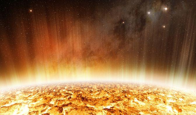 Sonne verändert ihre Form