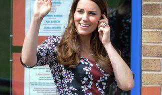 Als Herzogin Kate mit ihrem ersten Kind Prinz George schwanger war, durfte sie nicht beim Finale in Wimbledon zusehen, wie jetzt bekannt wurde. (Foto)