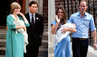 Als frischgebackene Mütter setzten sowohl Prinzessin Diana als auch Herzogin Kate auf ein fast identisches Outfit. (Foto)