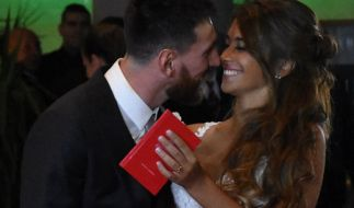 Lionel Messi undAntonella Roccuzzo haben geheiratet. (Foto)