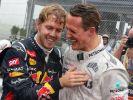 Für Sebastian Vettel (li.) ist Michael Schumacher Vorbild und Inspiration zugleich. (Foto)