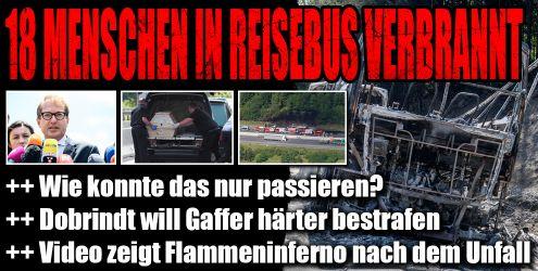Busunglück mit 18 Toten bei Münchberg