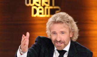 """Im ZDF feierte Thomas Gottschalk am Mittwoch ein kurzes """"Wetten, dass..?""""-Comeback (Archivbild).Jan Woitas (Foto)"""