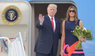 Trumps Besuch in Polen lief nicht ohne Handschlag-Gate ab. (Foto)