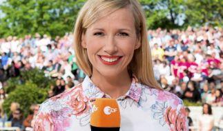 Andrea Kiewel moderiert seit 2009 den ZDF-Fernsehgarten. (Foto)
