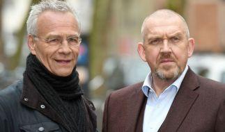 """Mit seiner Rolle im """"Tatort"""" wurde Klaus J. Behrendt (l., mit Kollege Dietmar Bär) deutschlandweit bekannt. (Foto)"""