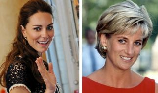 Kate Middleton und Lady Diana. (Foto)