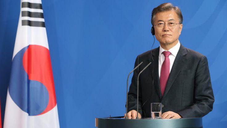 Südkoreas Präsident Moon Jae In will wieder stärker auf Pjöngjang zugehen. (Foto)