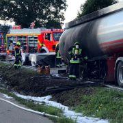 Mutiger Trucker fährt brennenden Tanklaster in Sicherheit (Foto)
