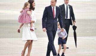Herzogin Kate, Tochter Charlotte, Prinz William und der kleine George kommen am 19. Juli nach Deutschland. (Foto)