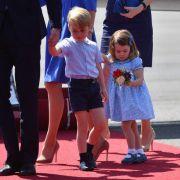 Ein besonderes Highlight sind natürlich die royalen Kids George und Charlotte. Die beiden sind zum ersten Mal für einen Staatsbesuch in Deutschland.