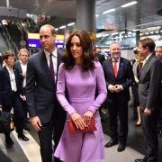 Tag 3 ist angebrochen. Prinz William und seine Frau Herzogin Kate kommen am 21.07.2017 am Hauptbahnhof in Berlin an, um mit dem Zug nach Hamburg zu fahren.