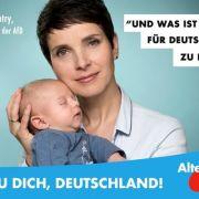 Missbraucht die AfD-Chefin ihr Baby für den Wahlkampf? (Foto)