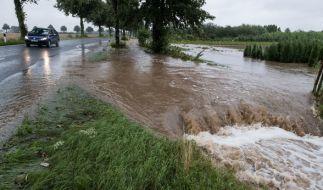 Dauerregen hat im südlichen Niedersachsen in einigen Orten zu Überschwemmungen geführt. (Foto)