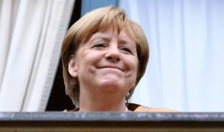 """Angela Merkel hat gut lachen: Der """"Kanzlerformel"""" zufolge hat sie beste Chancen, auch nach der Bundestagswahl 2017 Kanzlerin zu bleiben. (Foto)"""