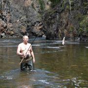 Angeln scheint Putin wahrlich zu liegen.