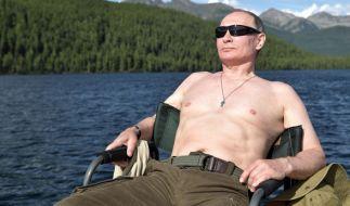Wladimir Putin gönnt sich ein wenig Entspannung. (Foto)