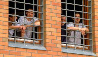 In der Jugendstrafanstalt Regis-Breitingen in Sachsen sitzen ca. 370 junge Männer ihre Haftstrafen ab. Der Alltag im Gefängnis ist nicht frei von Konflikten und Gewalt. (Foto)