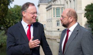 Niedersachsens Ministerpräsident Stephan Weil und Kanzlerkandidat Martin Schulz. (Foto)