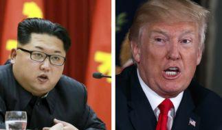 Donald Trump und Kim Jong Un drohen sich gegenseitig mit einem Atomkrieg. (Foto)