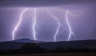 In Sachsen und Bayern schlug der Blitz in mehrere Häuser ein. (Foto)
