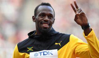 Usain Bolt beendet seine große Karriere nach der Leichtathletik-WM in London. Schnappt er sich noch eine letzte Gold-Medaille? (Foto)
