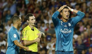 Cristiano Ronaldo wurde vorzeitig zum Duschen geschickt. (Foto)