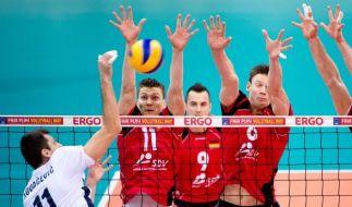 Beim Volleyball-Länderspiel trifft Deutschland auf Belgien. (Foto)