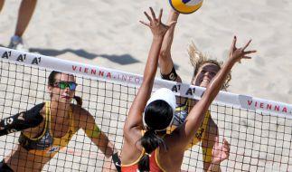 Die deutschen Olympiasiegerinnen Laura Ludwig und Kira Walkenhorst sind im Viertelfinale der Beach-EM 2017 in Lettland ausgeschieden. (Foto)