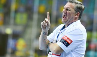 Der Trainer der Rhein-Neckar Löwen, Nikolaj Jacobsen. (Foto)
