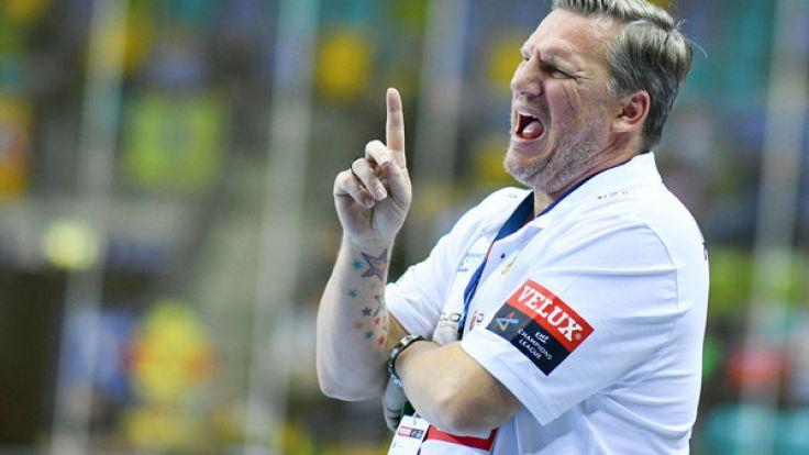 Der Trainer der Rhein-Neckar Löwen, Nikolaj Jacobsen.