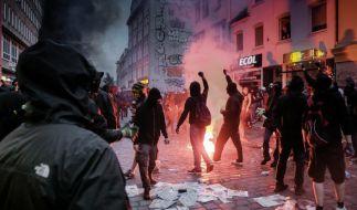 Die Ausschreitungen beim G20-Gipfel wurden bei Indymedia angekündigt. (Foto)