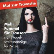 Dragqueens zeigen der AfD den Stinkefinger (Foto)