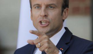 Aussehen ist eben wichtig! Emmanuel Macron hat in drei Monaten 26 000 Euro für Schminke ausgegeben. (Foto)