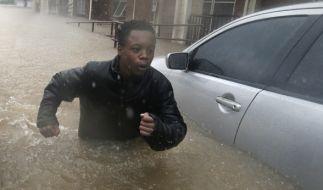 "Tropensturm ""Harvey"" richtete verheerende Schäden an. (Foto)"
