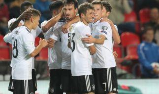 Die DFB-Elf trifft im 8. WM-Qualifikationsspiel auf Norwegen. (Foto)