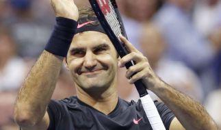 Roger Federer kickte im Achtelfinale Philipp Kohlschreiber aus dem US-Open-Turnier. (Foto)