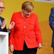 Merkel in Heidelberg mit Tomaten beworfen (Foto)
