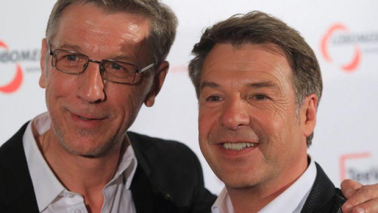 Peter Schäfer (l.) und Patrick Lindner sind bereits seit einigen Jahren glücklich zusammen. (Foto)