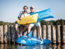Die Fluxbag-Gründer Lucas Richter und Jens Thiel. (Foto)