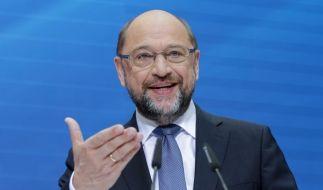 Martin Schulz verlangt zweites TV-Duell mit Merkel. (Foto)